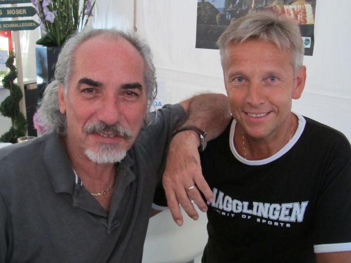 Mit Peter Kleinmann, Präsident des österreichischen Volleyballverbandes