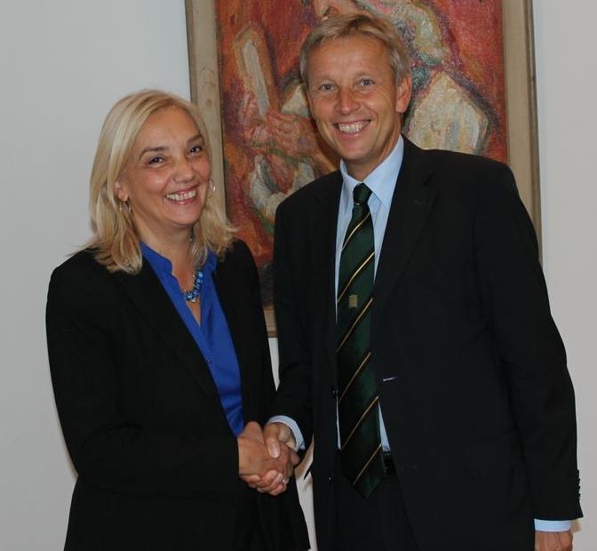 (c) BMEIA, Btx: STS Lopatka mit serbischer Staatssekretärin Vera Mavric