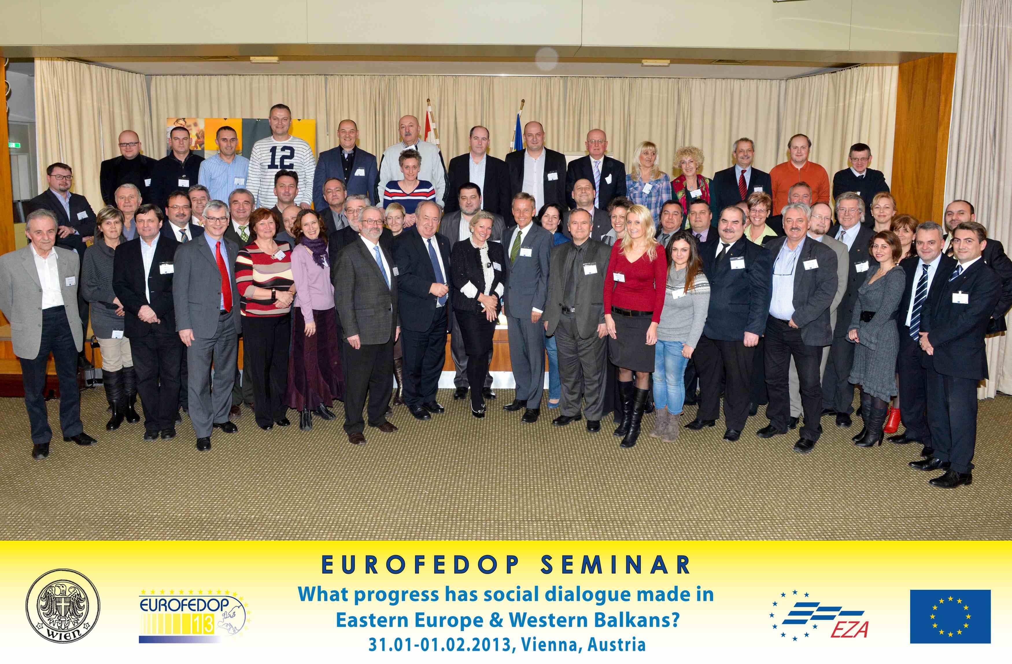 (c) BMEIA, STS Lopatka beim Seminar der EUROFEDOP Seminar mit allen Teilnehmern und Redner
