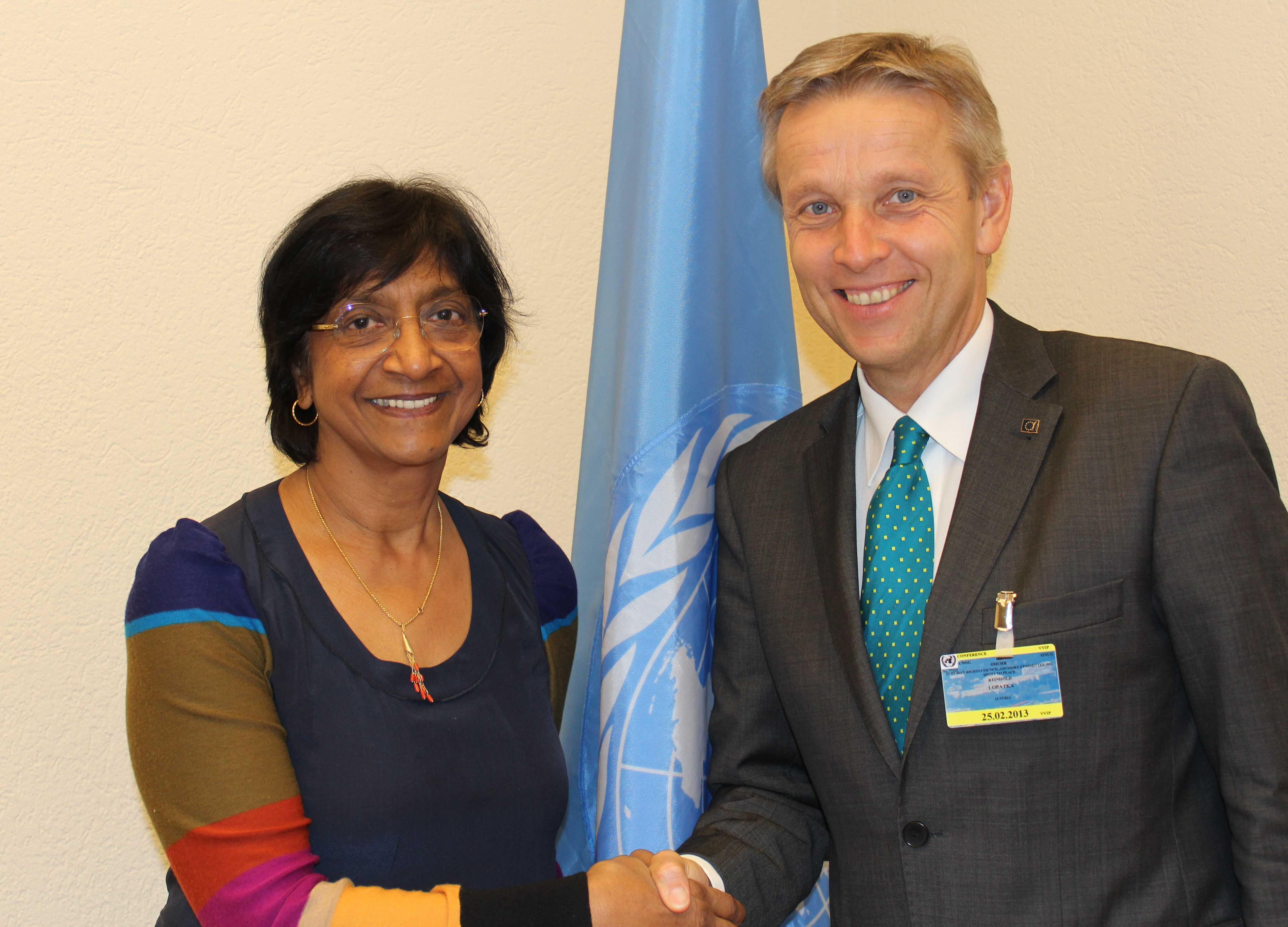 (c) BMEIA, STS Lopatka trifft Hochkommissarin für Menschenrechte Navi Pillay
