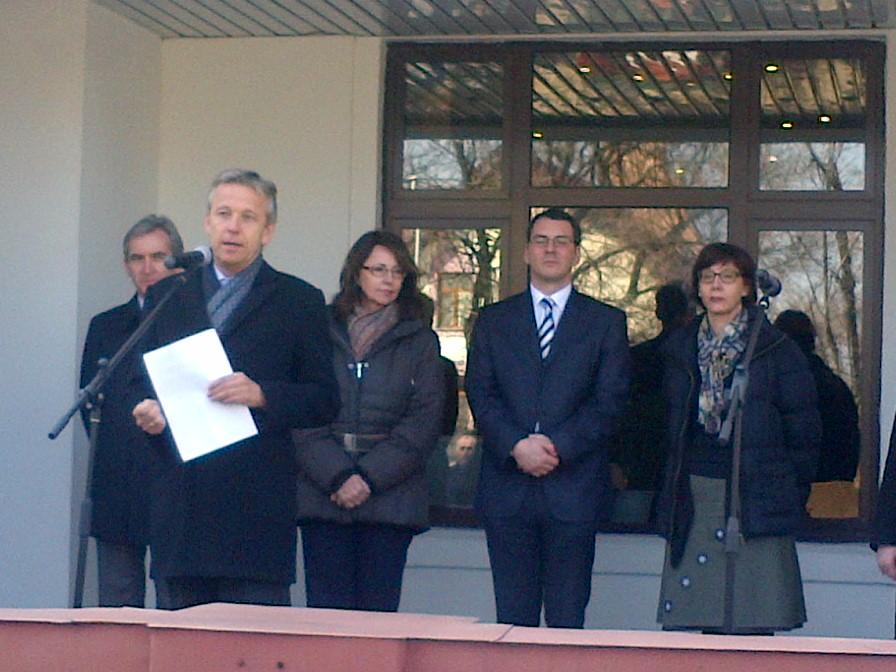 (c) STS Lopatka bei der Eröffnung der neuen Räumlichkeiten der österreichischen Botschaft in Chisinau