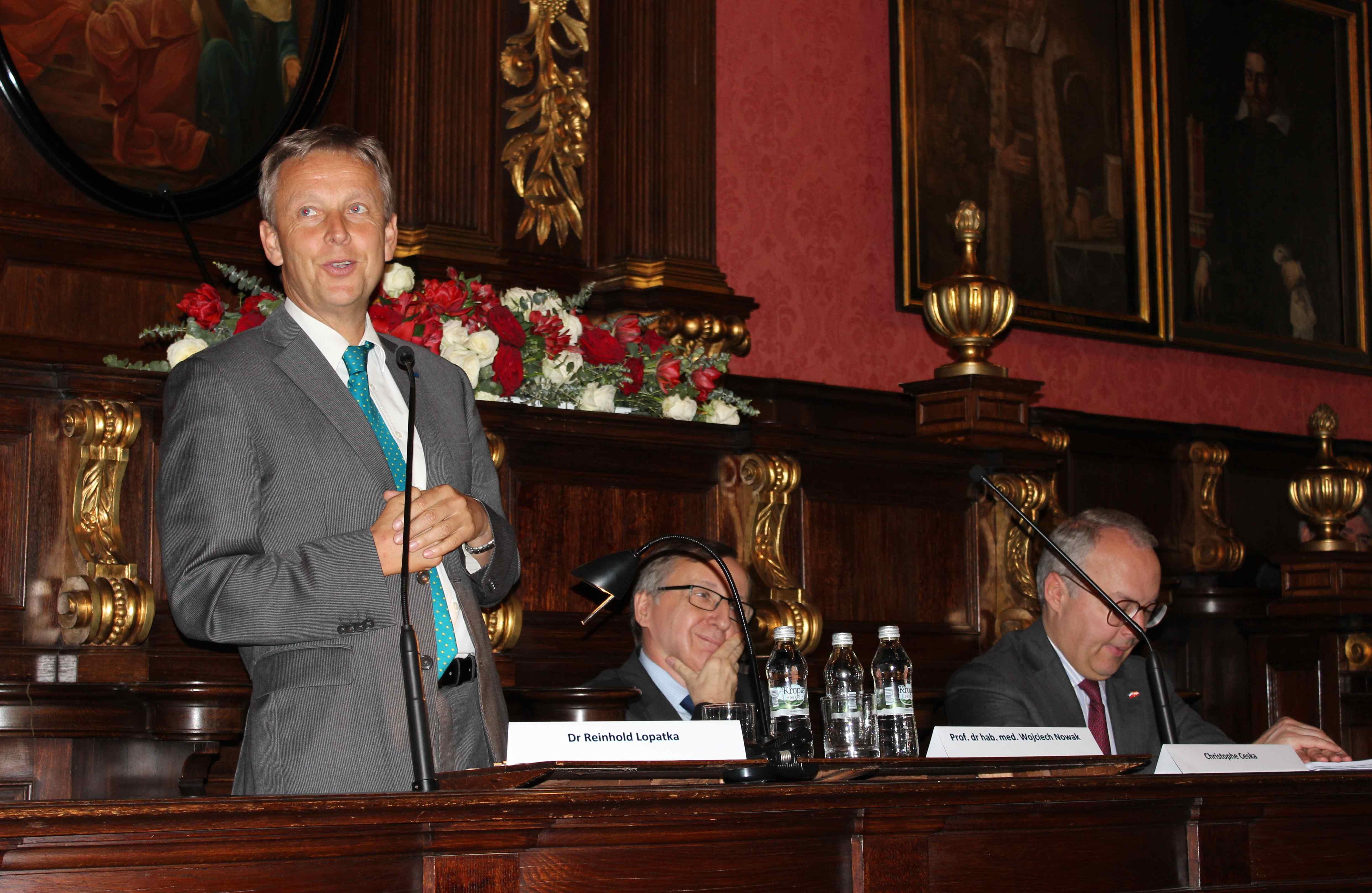 (c) BMEIA, STS Lopatka hält einen Vortrag an der Jagiellonen-Universität in Krakau