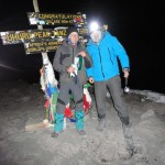 (c)privat, Kilimanjaro - Am Gipfel 5 Uhr morgens