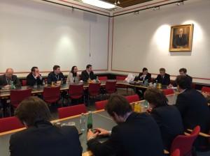 Klubobmann Lopatka (Vorsitz Mitte), ÖVP-Abg. Zakostelsky (Vorsitz rechts) und der Wirtschaftsbund-Direktor Steiermark Kurt Egger Foto: Eva Schuster/WB Steiermark