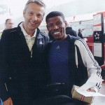 StS Lopatka mit Heile Gebralassie nach dem Wien-Marathon 17.4.2011, einem der besten Langstreckenläufer der Geschichte
