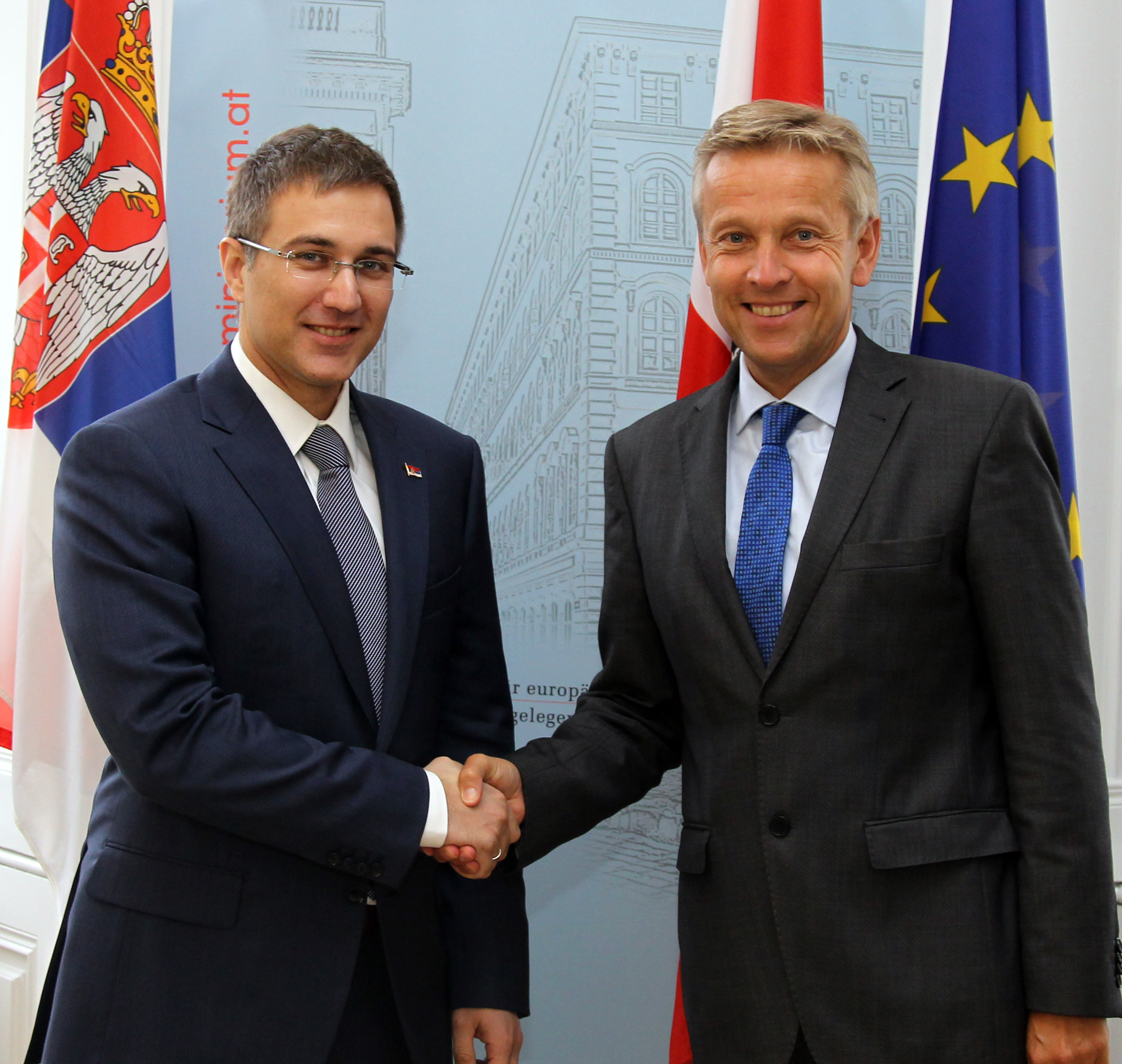 (c)BMeiA, StS Lopatka trifft serbischen Parlamentspräsident Stefanovic