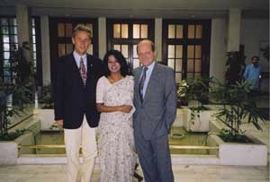 Beim für Indien und Nepal zuständigen Botschafter Dr. Herbert Traxl und seiner Gattin in der österreichischen Botschaft in Neu Delhi