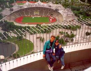 Mit Sohn Philipp auf dem Olympiaturm