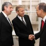 (c)BMeiA, StS Lopatka zusammen mit AM Spindelegger trifft UNGS Ban Ki-moon