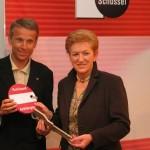 © ÖVP; Mit Generalsekretärin Maria Rauch-Kallat bei meinem Amtsantritt