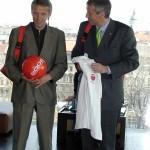 (c)ÖVP, Lopatka mit Wirtschaftsminister Bartenstein