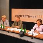 © ÖVP; Mit Generalsekretärin Rauch-Kallat und JVP-Obfrau Silvia Fuhrmann