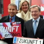 © ÖVP; Mit BK Schüssel und der späteren Außenministerin Ursula Plassnik
