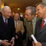 © ÖVP, Lopatka mit Alt-Präsident Kurt Waldheim und Alt-Außenmin. Alois Mock