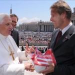 © StS Sport/StS Sport, am Petersplatz bei Papst Benedikt XVI