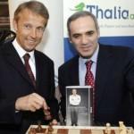© ÖVP, Lopatka mit Schachweltmeister Garri Kimowitsch Kasparow