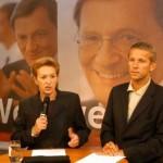 © ÖVP, Wahlkampf 2002; Mit Generalsekretärin Maria Rauch-Kallat